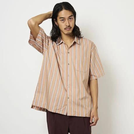 SON OF THE CHEESE / Stripe OpShirt (ORANGE)