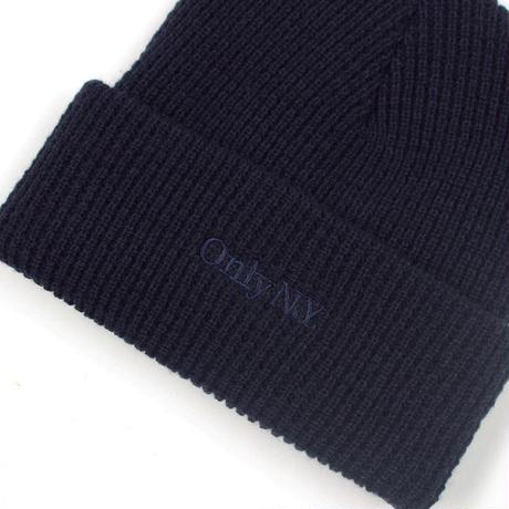 Only NY / Lodge Waffle Knit Beanie (Dark Navy)