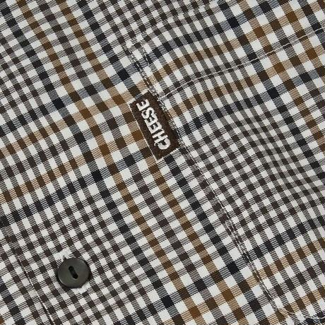 SON OF THE CHEESE / 3/4 Length Shirt (GRAY CHECK)
