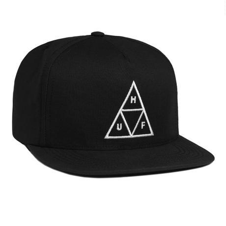 HUF / ESSENTIALS TT SNAPBACK  HAT (BLACK)