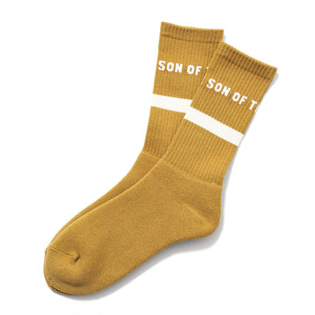 SON OF THE CHEESE / POOLSOX ONE STRIPE(MUSTARD)