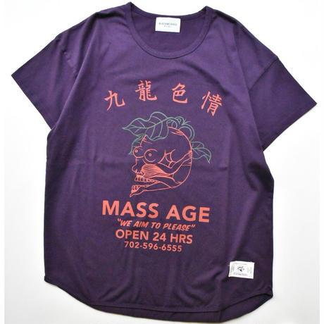 Black Weirdos / MASS/AGE Tee  (D.Purple)