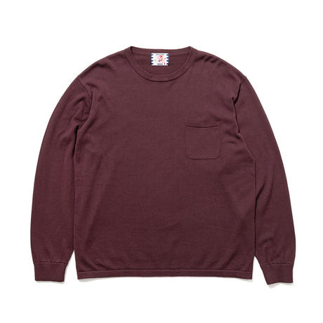 SON OF THE CHEESE / C100 long sleeve(WINE)