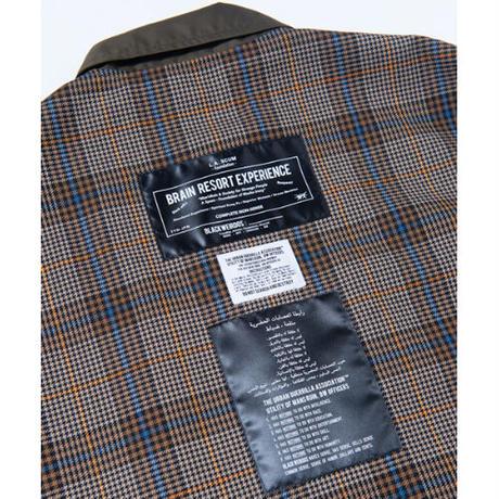 Black Weirdos / Inside-Out British Coat  ( Beige / Tartan-Check )