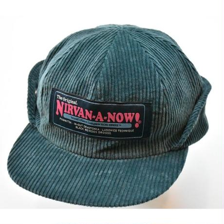Black Weirdos / Corduroy Flap Cap(D GREEN)