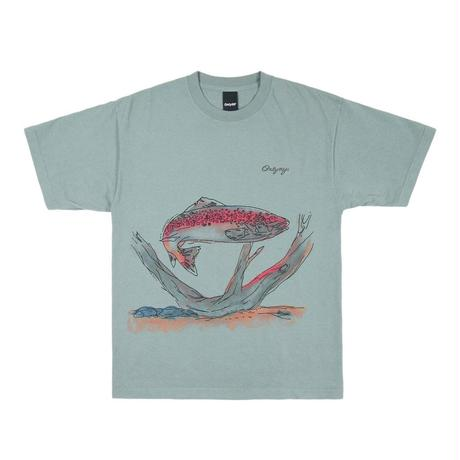 Only NY / Painted Trout T-Shirt (Lake Blue)