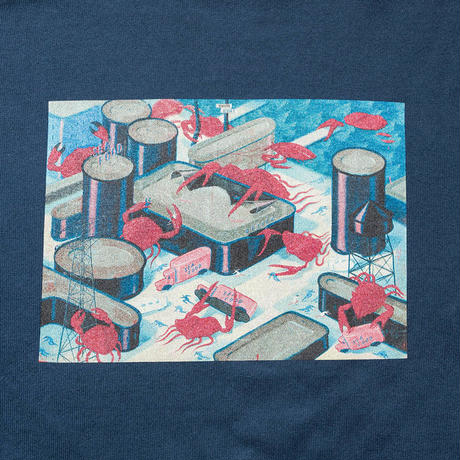 SON OF THE CHEESE / Seafood Revolt LS TEE(BLUE)
