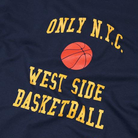 Only NY / West Side Baseketball  T-Shirt (Navy)