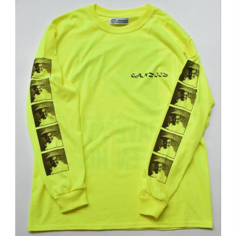 Black Weirdos / Ganziiz L/S Tee  (YELLOW)
