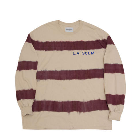 Black Weirdos / Tiedye border L/S Tee (Sand)