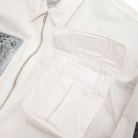 Black Weirdos / Droog Army Jacket (White)