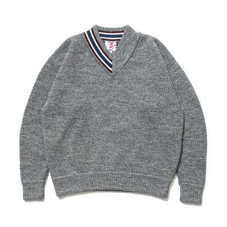 SON OF THE CHEESE / HALF V sweter (GRAY)