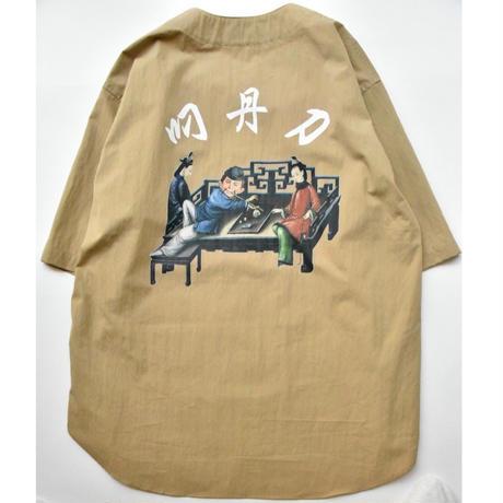 Black Weirdos / Baseball Shirt  (Beige)