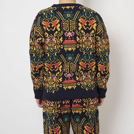 SON OF THE CHEESE / Wallpaper Knit (NAVY)