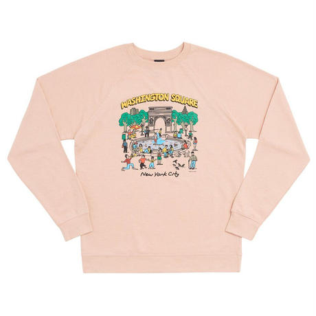 Only NY / Washington Sq. Park Crewneck ( Pale Pink )