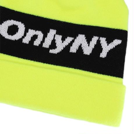Only NY / Knit Logo Beanie(Safety Yellow)