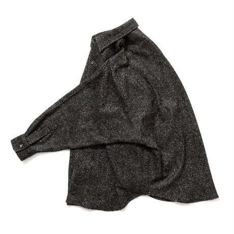 SON OF THE CHEESE / Big Herrignbone Shirt(BLACK)