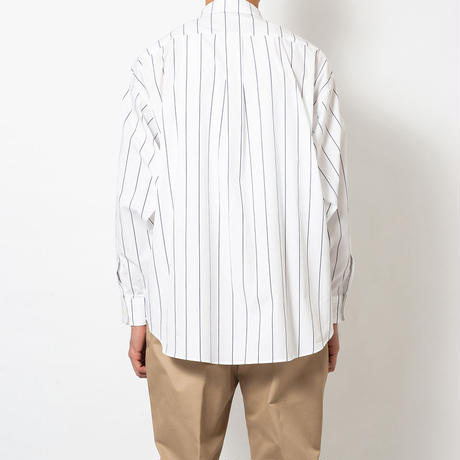 SON OF THE CHEESE / Big Stripe Shirt(NAVY ST)