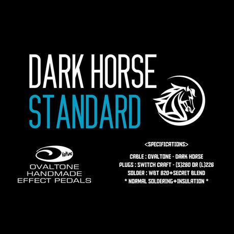 DARK HORSE / シールドケーブル 完成品 // STANDARD 3m S-S / Ovaltoneオフィシャルスタンダード