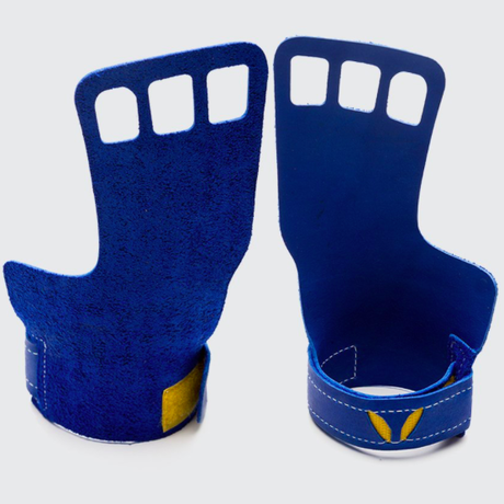 VICTORY GRIPS / MENS : LEATHER 3-Finger BLUE