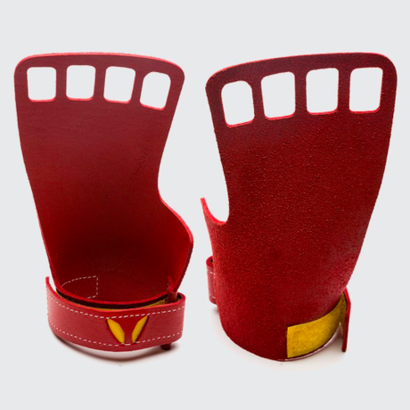 VICTORY GRIPS / MENS  LEATHER 4-Finger RED