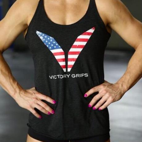 Victory Grips// WOMEN'S USA FLAG LOGO TANK
