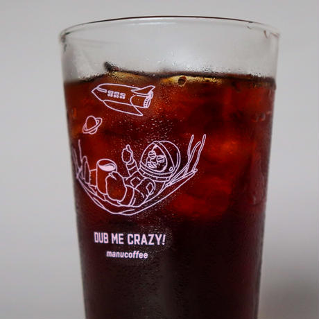 """""""dub on coffee"""" glass (2color / design by MASATOO HIRANO)"""