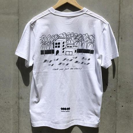 manucoffee kujira shop 2nd anniversary T-shirts illustration byOgawa Yohei