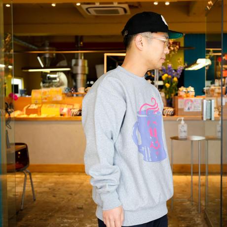 【Hikaru Matsubara × hirock × manucoffee】Smile Mug Crewneck Sweat