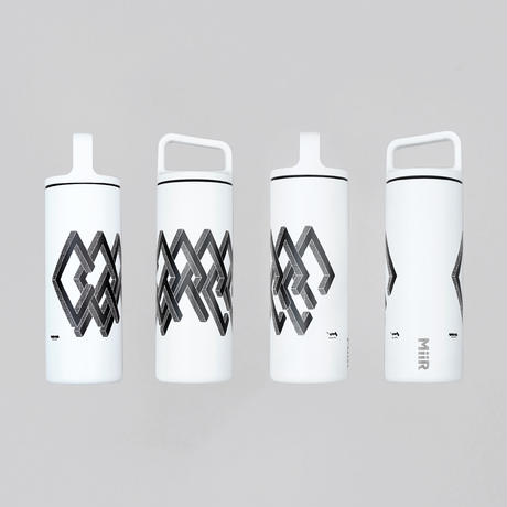 """""""COFFEE"""" Wide Mouth Bottle / WHITE ver.(design by 三重野 龍)"""
