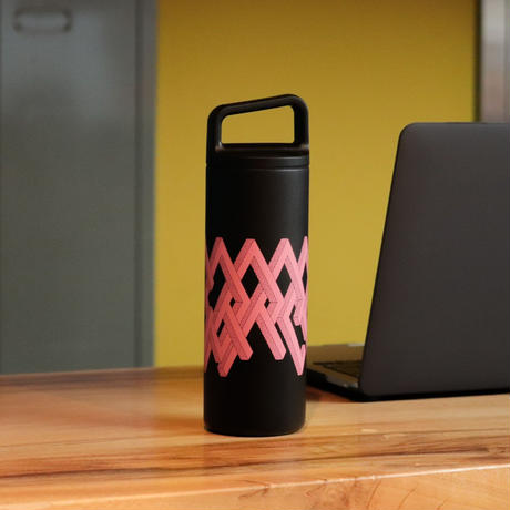 """""""COFFEE"""" Wide Mouth Bottle / PINK ver.(design by Ryu Mieno)"""