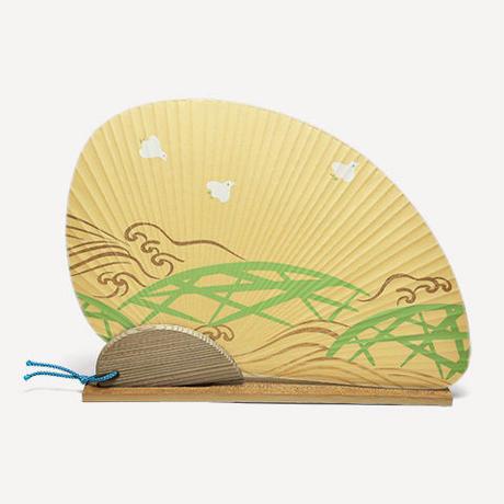 オリジナル団扇セット 千鳥(丁字)