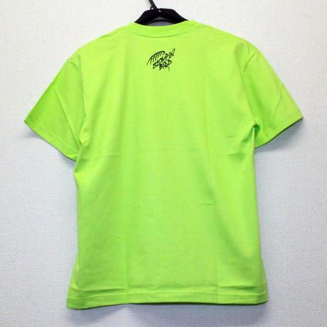 3 OWLS Tシャツ (ライムグリーン)