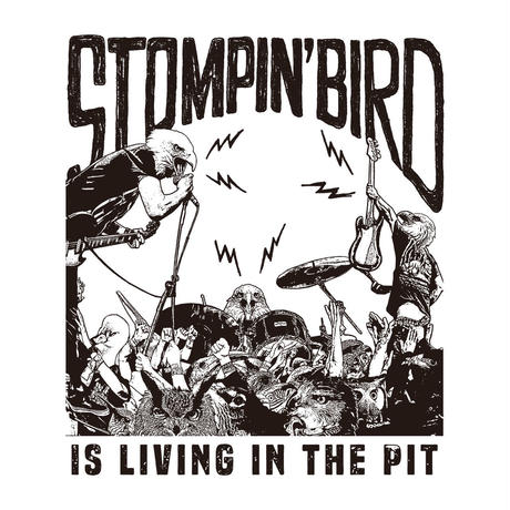 LIVING IN THE PIT Tシャツ (白)