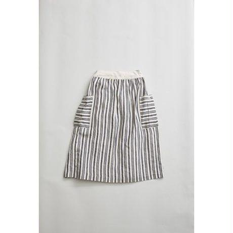 Nigel Cabourn WOMAN WORKERS SKIRT LINEN HICKORY エクリュ [NIG022]