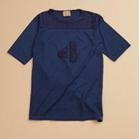 Nigel Cabourn WOMAN 50s Football T-Shirt Garment Dyed ネイビー [NIG045]