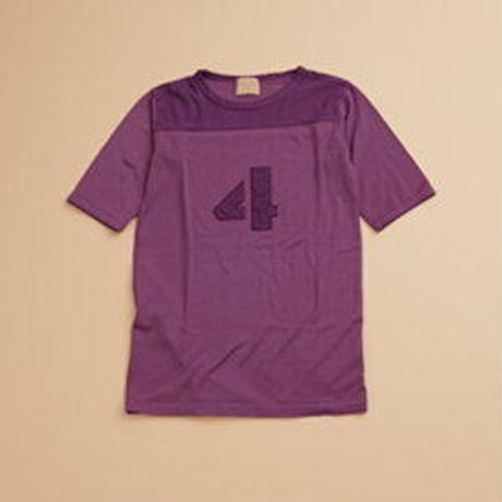 Nigel Cabourn WOMAN 50s Football T-Shirt Garment Dyed パープル [NIG045]