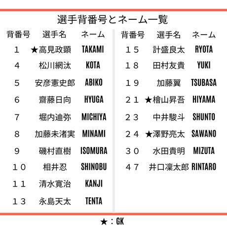 【大人・子ども】FPレプリカユニフォームシャツ(オレンジ)、番号・ネーム有り