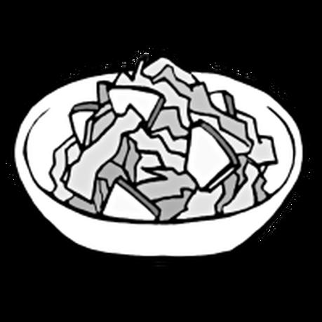 りんごサラダ(手書きイラスト)