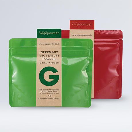グリーンミックス&レッドミックスベジタブルパウダーセット