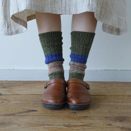 [ 今季分終了 ] ざっくり編みくつした / 杢ウール / ロング