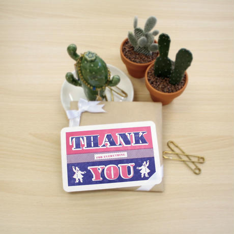 LETTERPRESS GREETING CARD:THANK YOU
