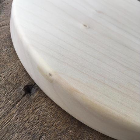 「いちょうの木のまな板」まん丸  直径25センチ wp-04