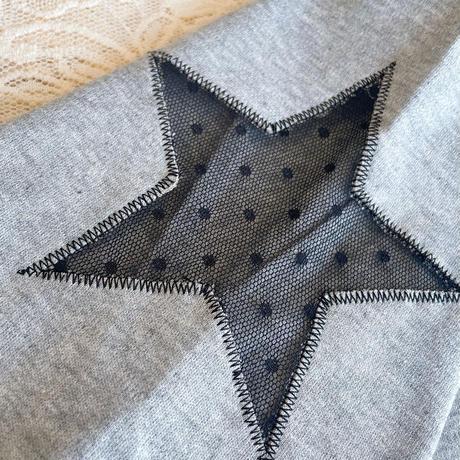 スター刺繍アシンメトリーロングワンピース CQ-38072