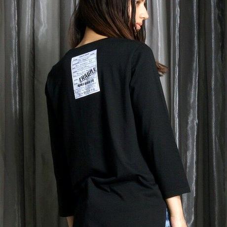 スカルハート刺繍 3/4 スリーブTee CQ-38017