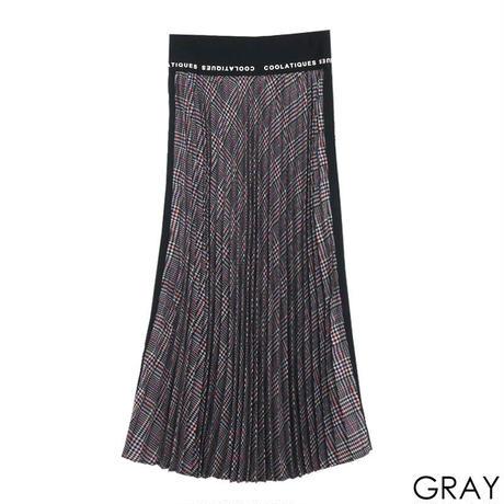 サイドロゴチェックプリーツスカート CQ-39020