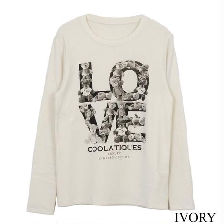 LOVEプリント L/S タイトTee CQ-37053