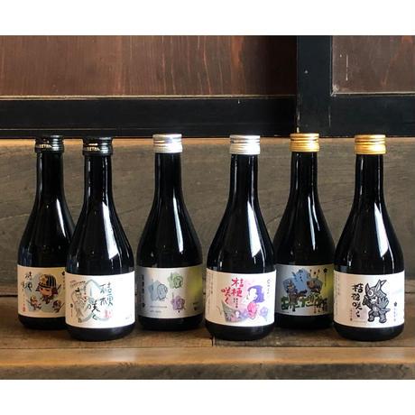 【光秀にちなんだお酒!6人のデザイナーが描く明智光秀】明智光秀桔梗咲くデザイナーズラベル、デザインコンプリートセット(ご自宅用)