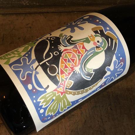 【妖怪アマビエとナマズのWご利益で疫病退散と商売繁盛!】六歓  AMANAMA   特別純米酒  720ml