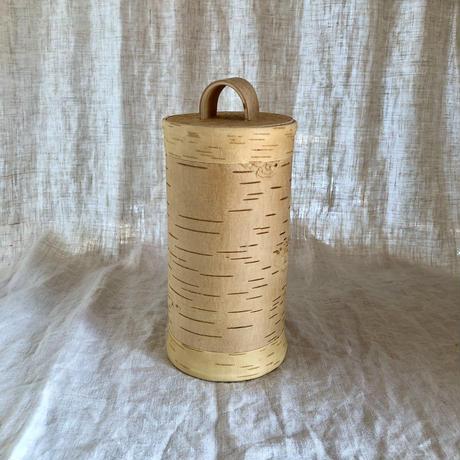 白樺キャニスターT010 φ12cm×H11cm